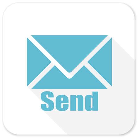blue send: send blue flat icon