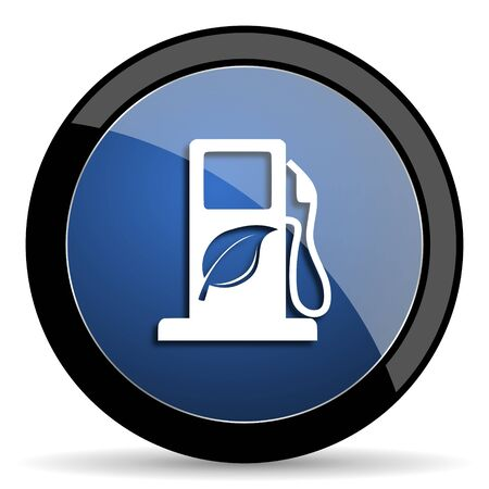 canola: biofuel blue circle glossy web icon on white background, round button for internet and mobile app