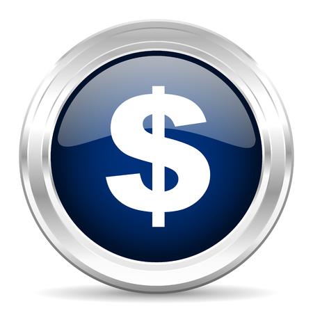 signo pesos: dólar cirle icono azul web oscuro sobre fondo blanco