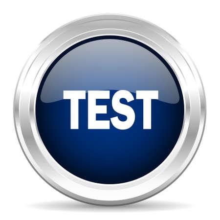 test probe: test cirle glossy dark blue web icon on white background
