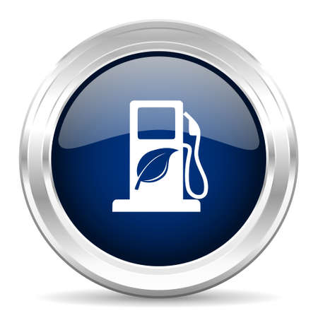 biofuel: biofuel cirle glossy dark blue web icon on white background