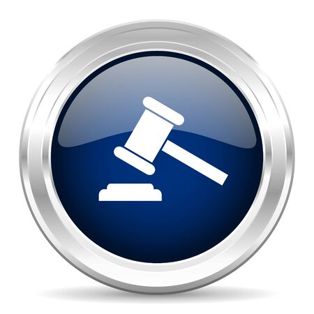 bhutan: auction cirle glossy dark blue web icon on white background
