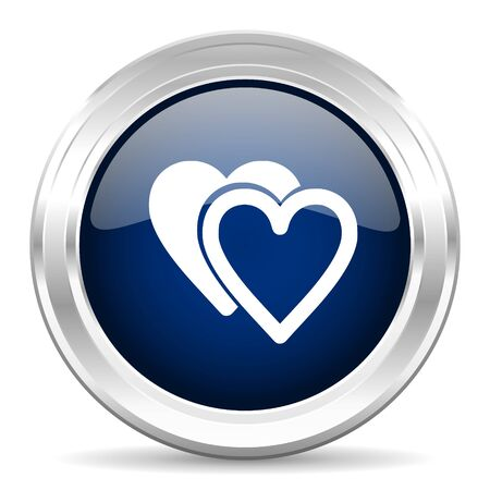 cardiologist: love cirle glossy dark blue web icon on white background