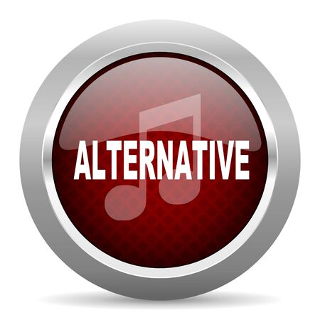 genre: alternative music red glossy web icon Stock Photo