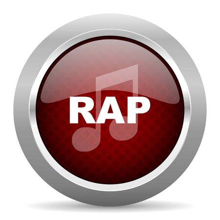rap music: rap music red glossy web icon