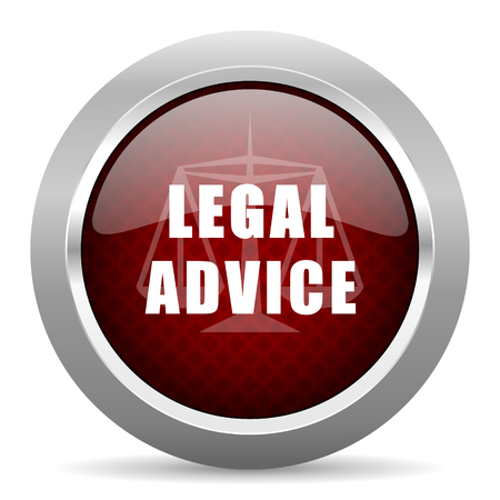 advies: legal advice red glossy web icon