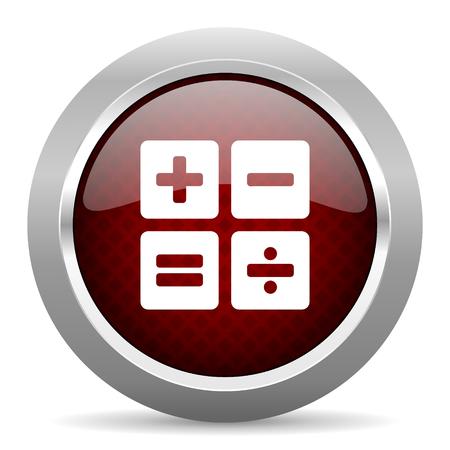 compute: calculator red glossy web icon