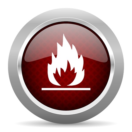 flame: flame red glossy web icon