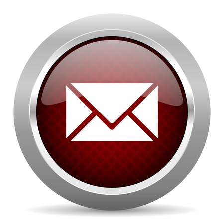 email: email red glossy web icon