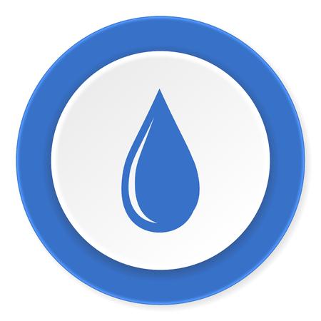 waterdrop: water drop blue circle 3d modern design flat icon on white background
