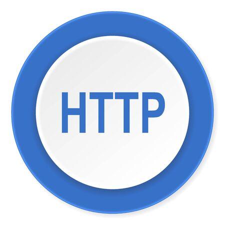http: http blue circle 3d modern design flat icon on white background