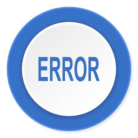 error blue circle 3d modern design flat icon on white background Stock Photo