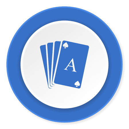 picto: card blue circle 3d modern design flat icon on white background