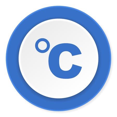 celcius: celsius blue circle 3d modern design flat icon on white background