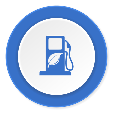 biofuel: biofuel blue circle 3d modern design flat icon on white background Stock Photo