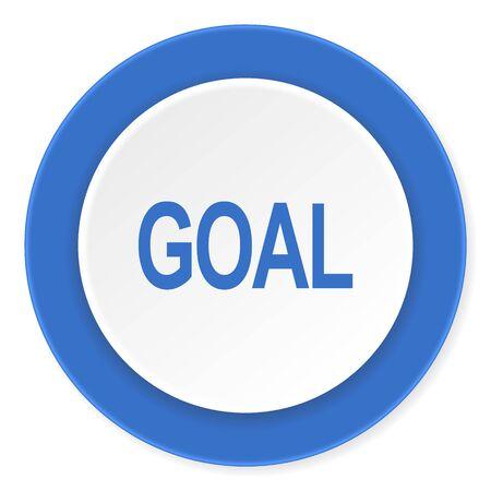 goal setting: goal blue circle 3d modern design flat icon on white background Stock Photo