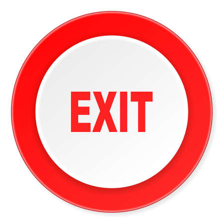 close out: exit red circle 3d modern design flat icon on white background Stock Photo