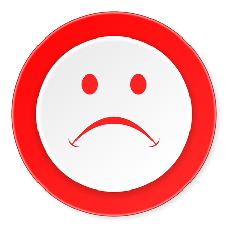 negate: cry red circle 3d modern design flat icon on white background Stock Photo