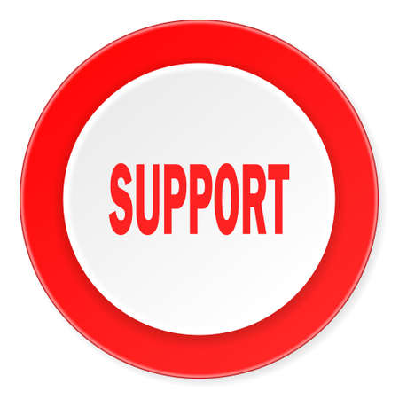 advisor: support red circle 3d modern design flat icon on white background