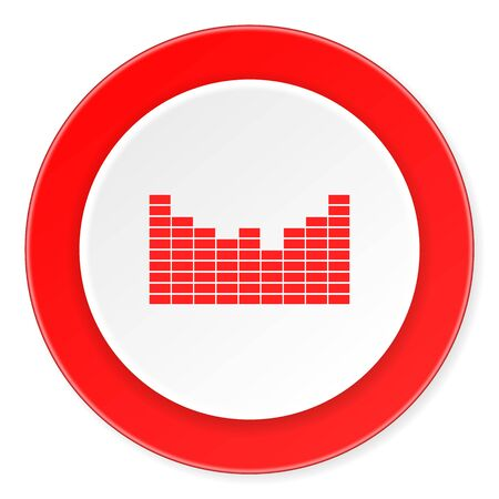 red sound: sound red circle 3d modern design flat icon on white background Stock Photo