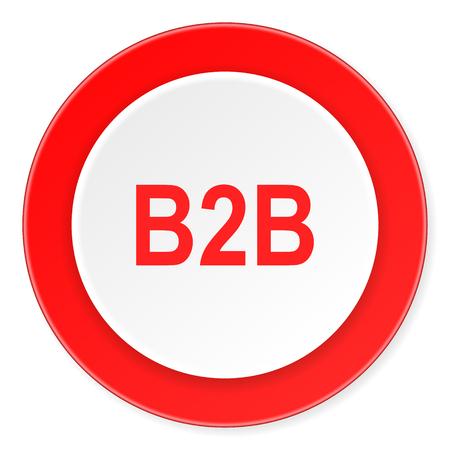 b2b: b2b red circle 3d modern design flat icon on white background