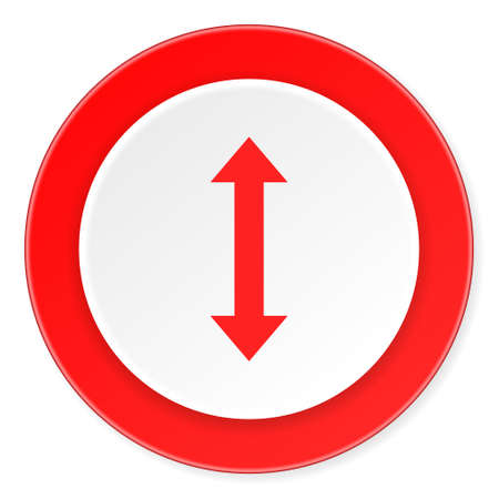 sterring: arrow red circle 3d modern design flat icon on white background Stock Photo