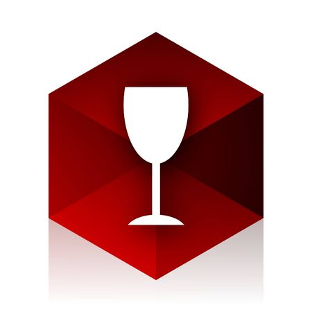 red cube: alcohol  red cube 3d modern design icon on white background