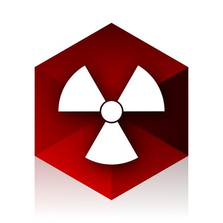 gamma radiation: radiation red cube 3d modern design icon on white background