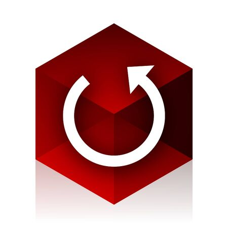 rotate: rotate red cube 3d modern design icon on white background