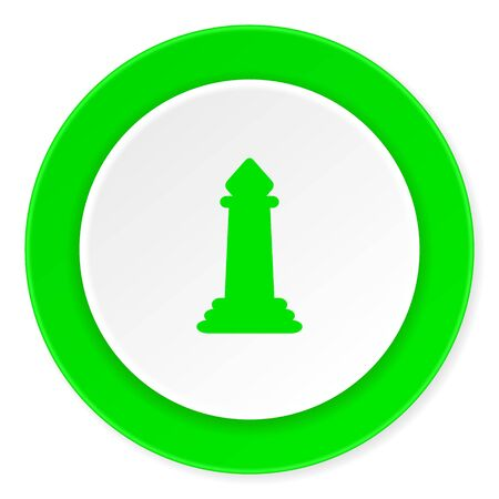 king master: chess green fresh circle 3d modern flat design icon on white background