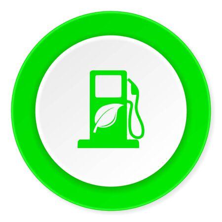 canola: biofuel green fresh circle 3d modern flat design icon on white background