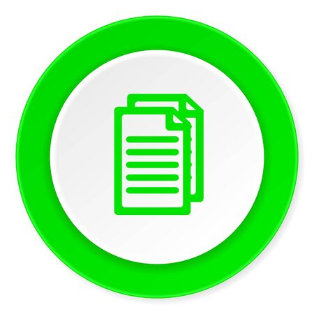 document green fresh circle 3d modern flat design icon on white background Stock Photo