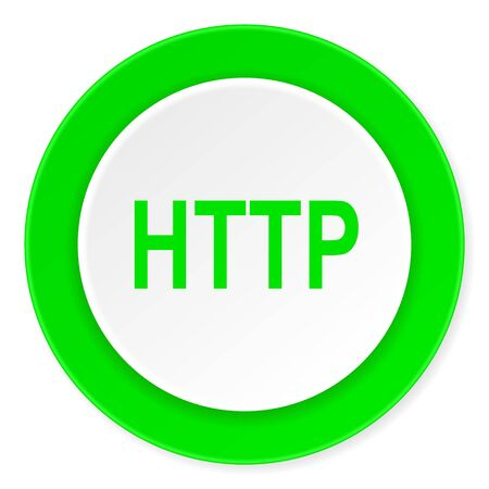 http: http green fresh circle 3d modern flat design icon on white background