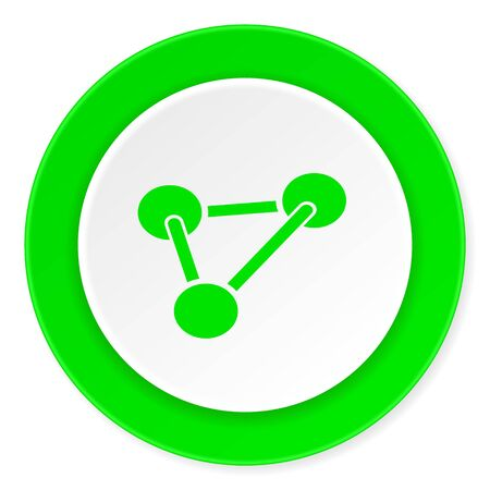 green chemistry: chemistry green fresh circle 3d modern flat design icon on white background