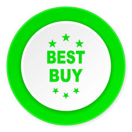 best buy: best buy green fresh circle 3d modern flat design icon on white background