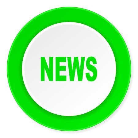 fresh news: news green fresh circle 3d modern flat design icon on white background