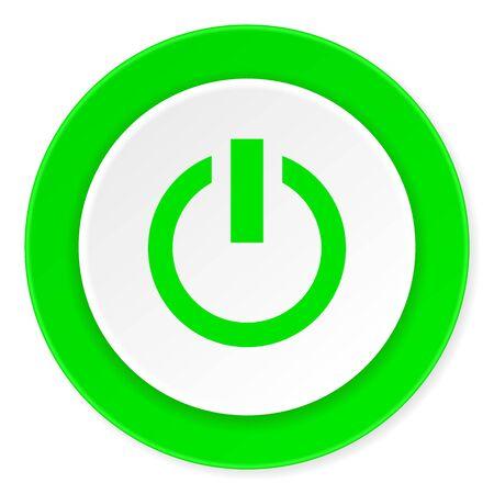 original ecological: power green fresh circle 3d modern flat design icon on white background