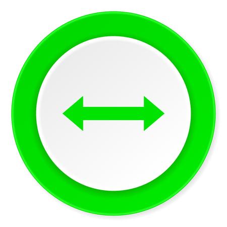 sterring: arrow green fresh circle 3d modern flat design icon on white background