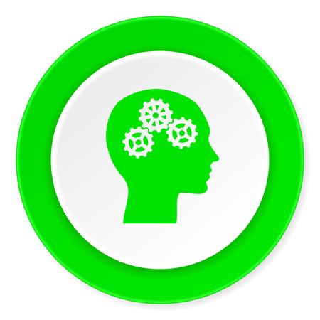 head green fresh circle 3d modern flat design icon on white background Stock Photo