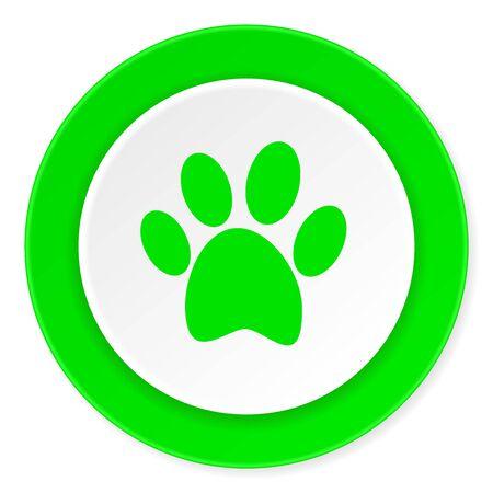 original ecological: foot green fresh circle 3d modern flat design icon on white background