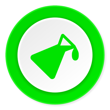 green chemistry: chemistry green fresh circle 3d modern flat design icon on white background
