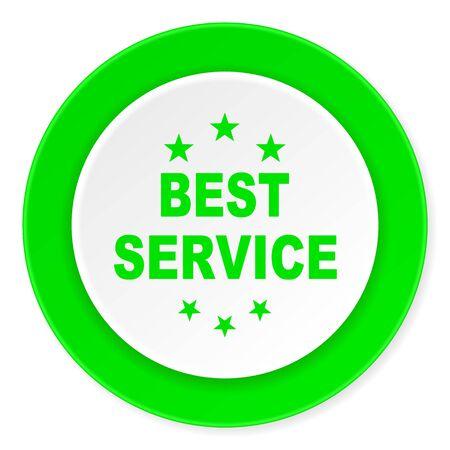 best service: best service green fresh circle 3d modern flat design icon on white background Stock Photo