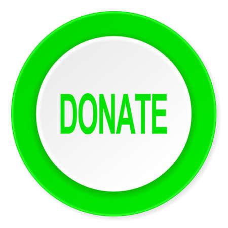 donate green fresh circle 3d modern flat design icon on white background Stock Photo