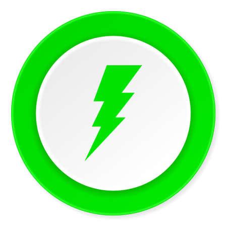 3d  bolt: bolt green fresh circle 3d modern flat design icon on white background