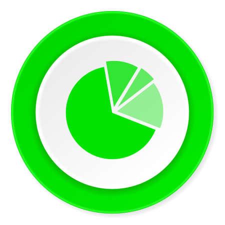 economic interest: diagram green fresh circle 3d modern flat design icon on white background