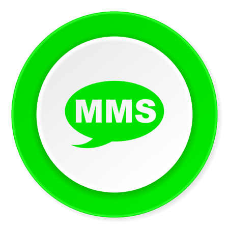 mms green fresh circle 3d modern flat design icon on white background