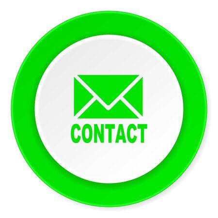 email green fresh circle 3d modern flat design icon on white background Stock Photo