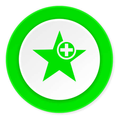 star green fresh circle 3d modern flat design icon on white background