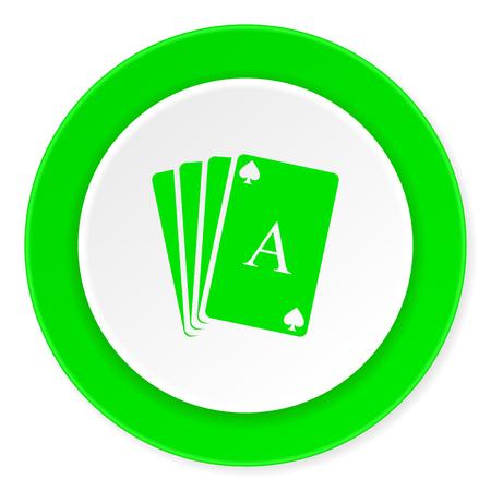 picto: card green fresh circle 3d modern flat design icon on white background Stock Photo