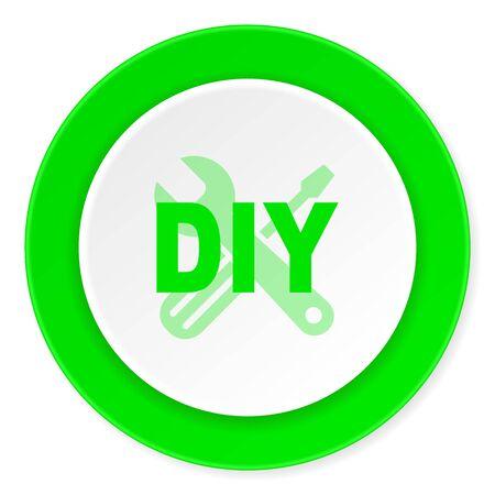 diy green fresh circle 3d modern flat design icon on white background
